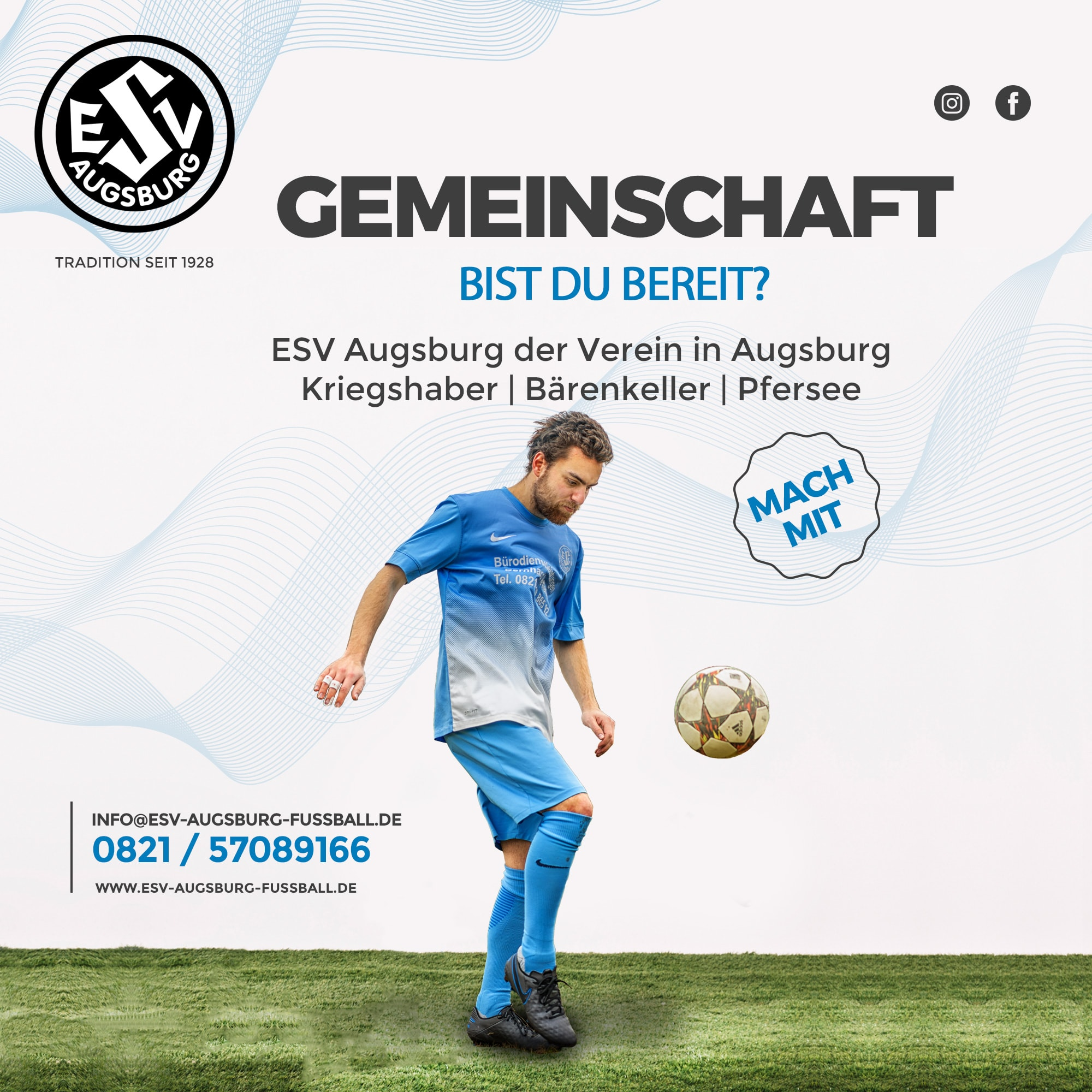 Social Media Post - ESV Augsburg Fussball
